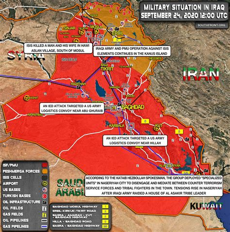 Military Situation In Iraq On September 24, 2020 (Map Update)